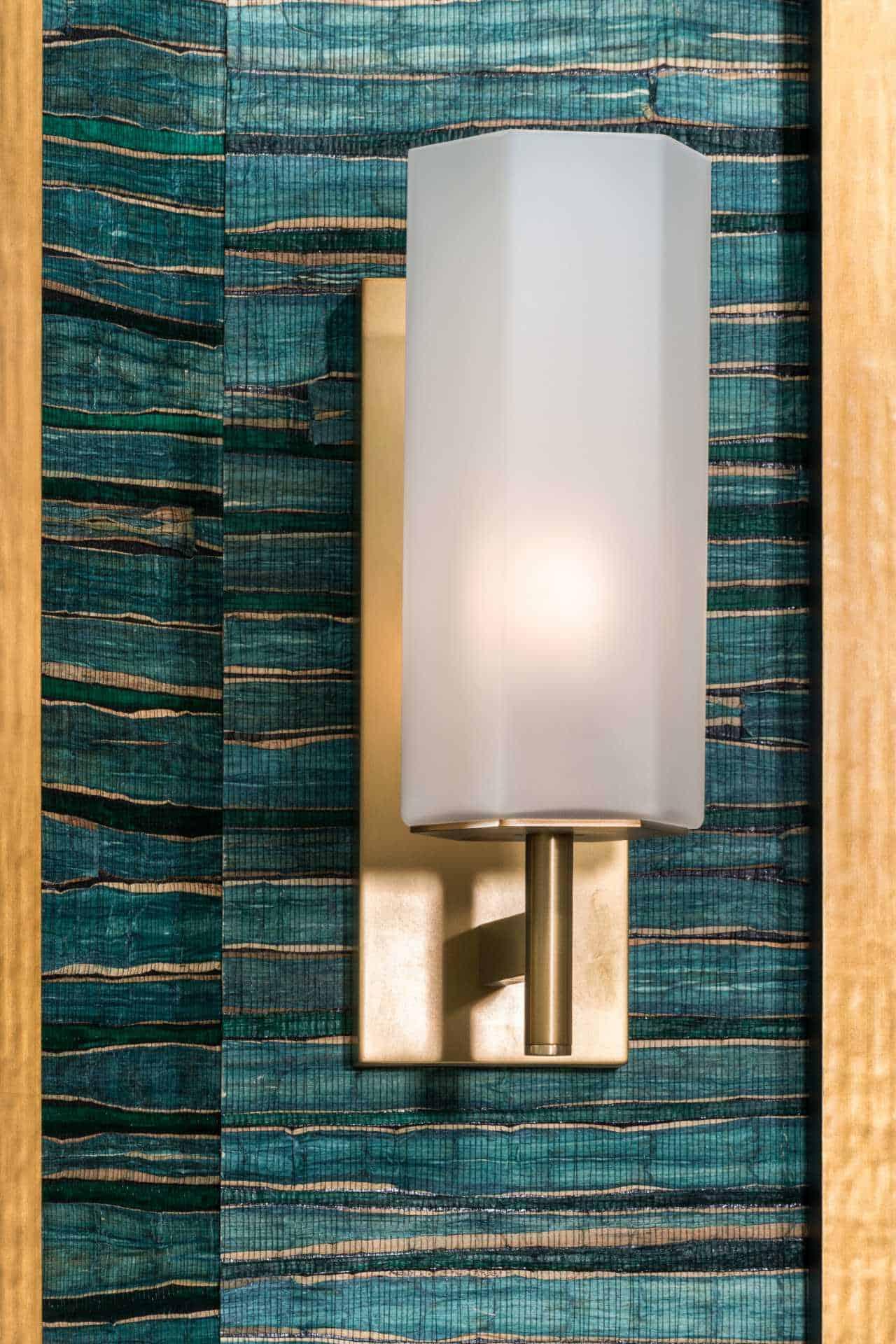 Ornate, wall-mounted bath lighting